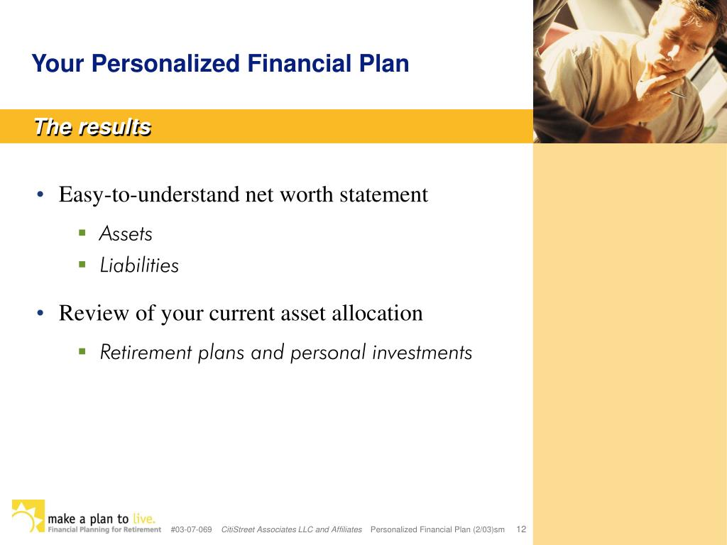 Your Personalized Financial Plan