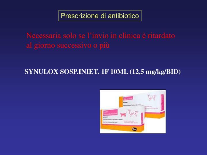 Prescrizione di antibiotico