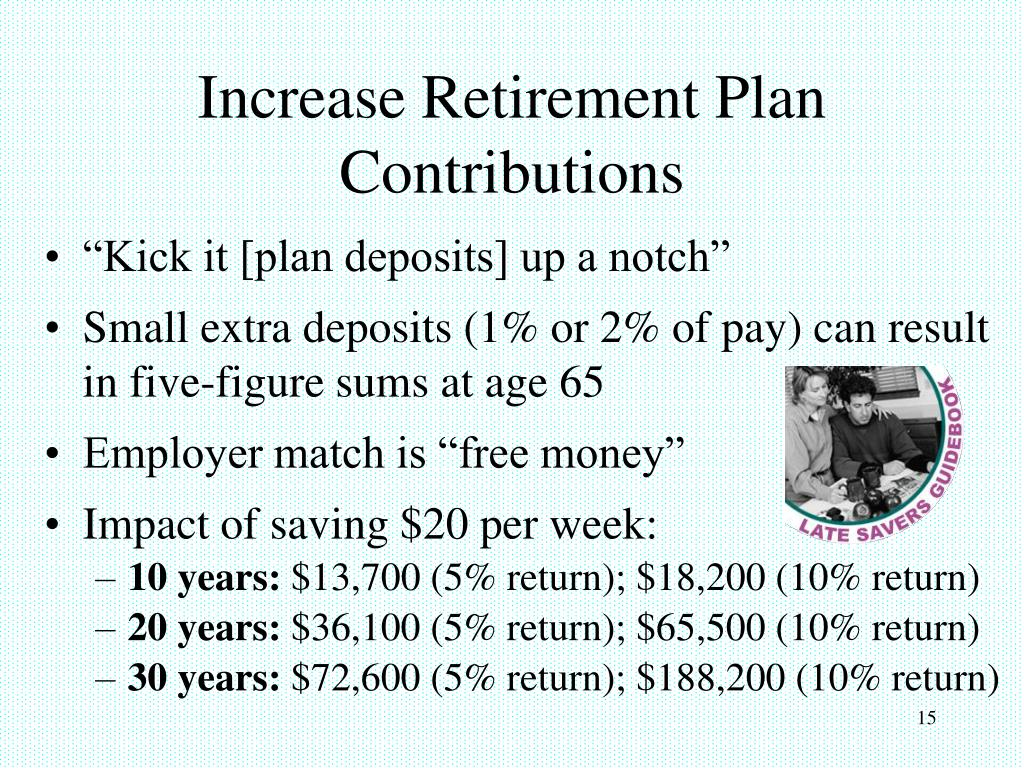 Increase Retirement Plan Contributions