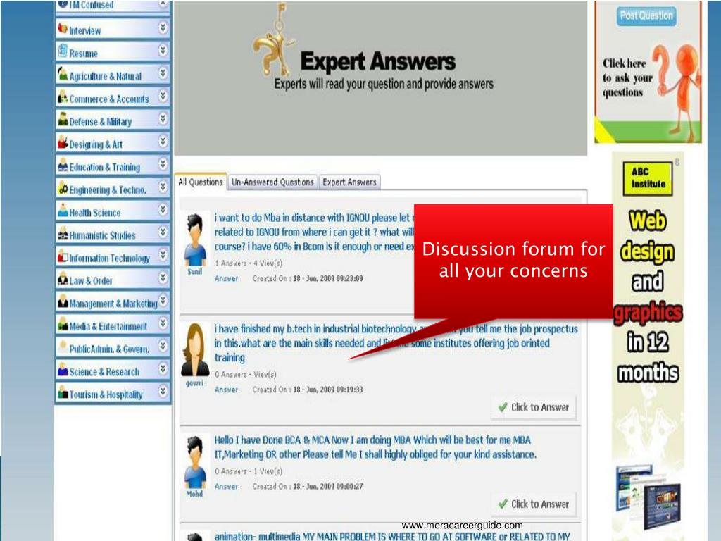 Discussion forum for all your concerns