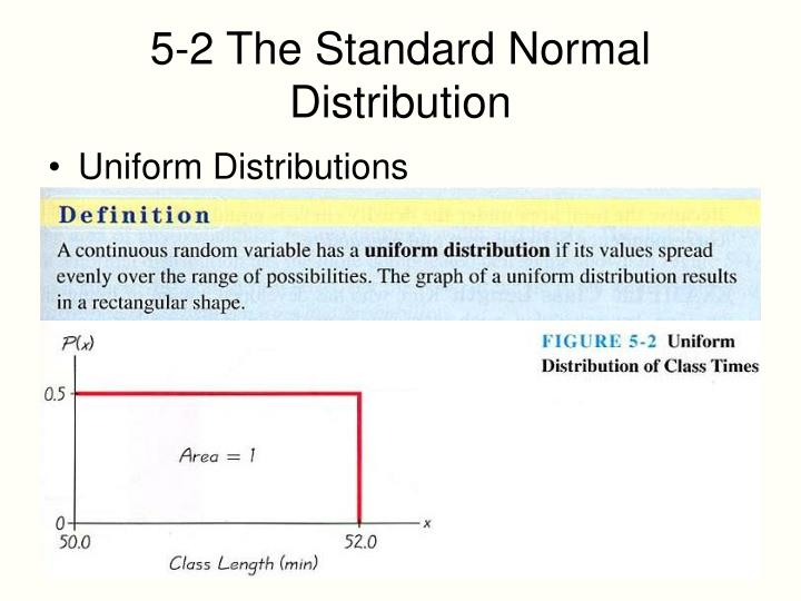 5-2 The Standard Normal Distribution