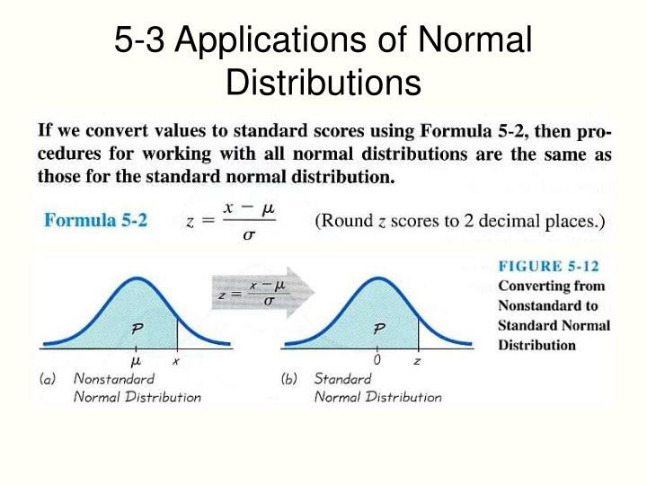 5-3 Applications of Normal Distributions