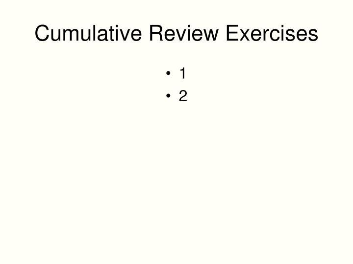 Cumulative Review Exercises