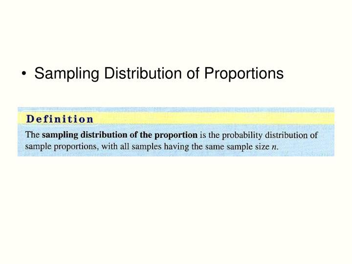 Sampling Distribution of Proportions