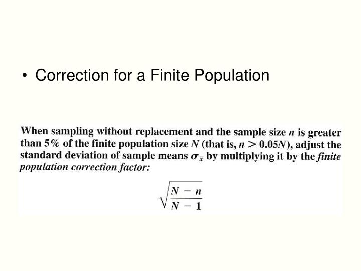 Correction for a Finite Population