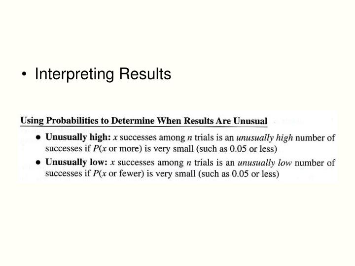 Interpreting Results