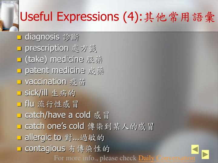 Useful Expressions (4):