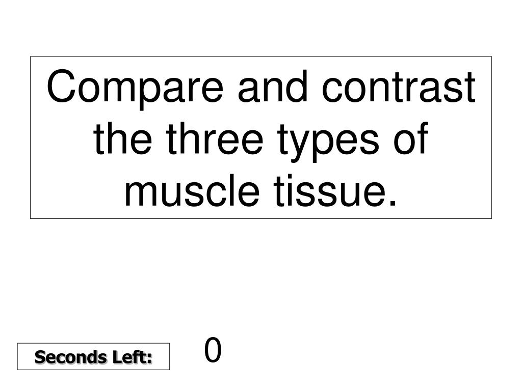 Compare and contrast the three types of muscle tissue.