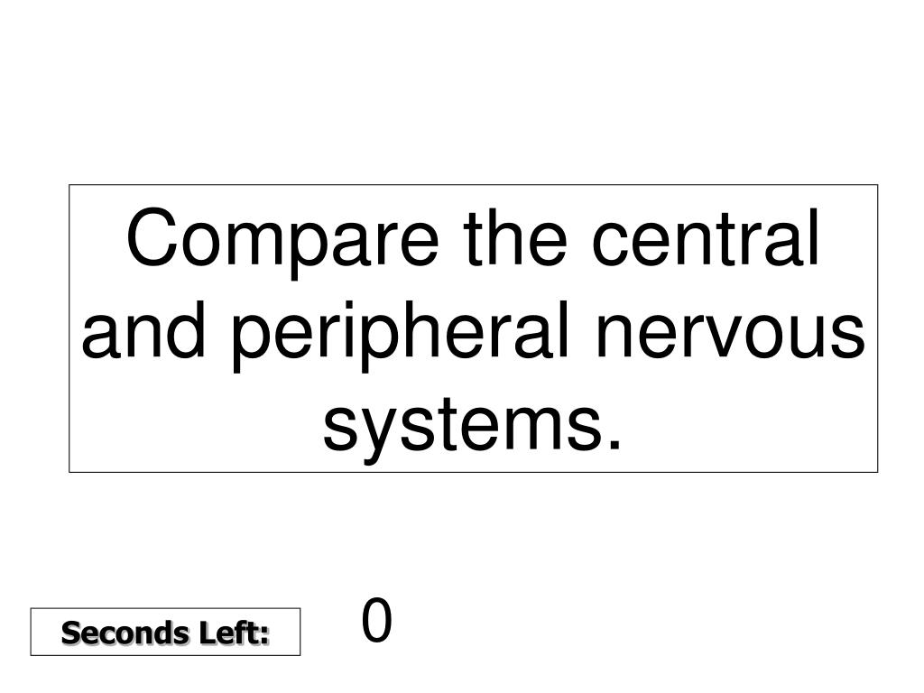 Compare the central and peripheral nervous systems.