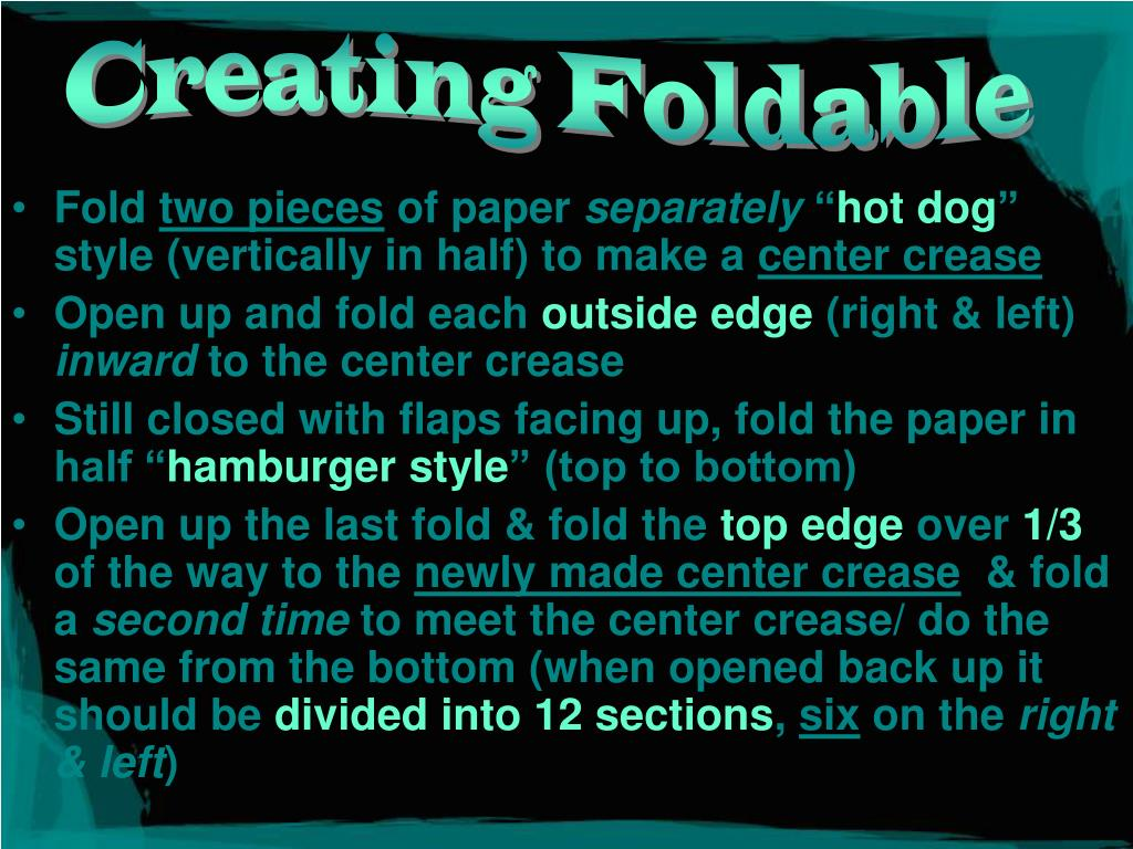 Creating Foldable