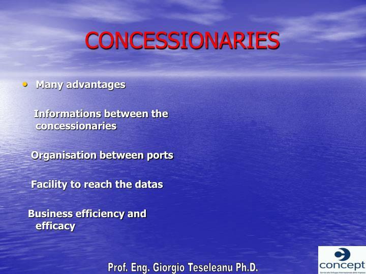 CONCESSIONARIES