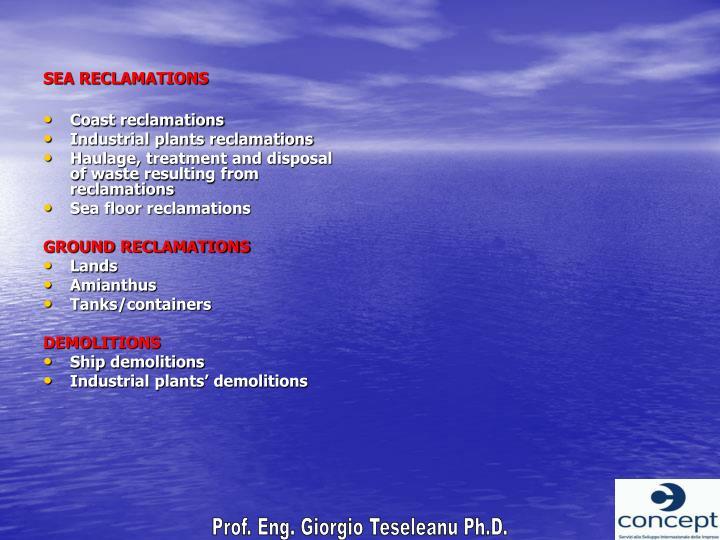SEA RECLAMATIONS