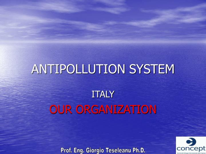 ANTIPOLLUTION SYSTEM