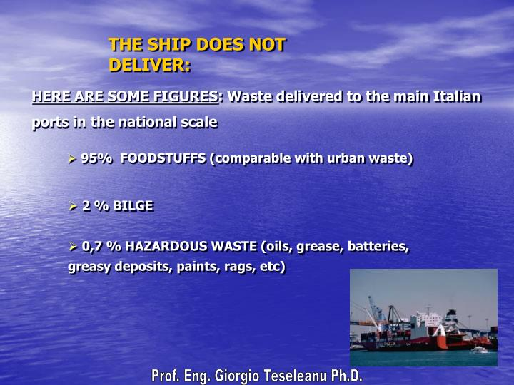 THE SHIP DOES NOT DELIVER: