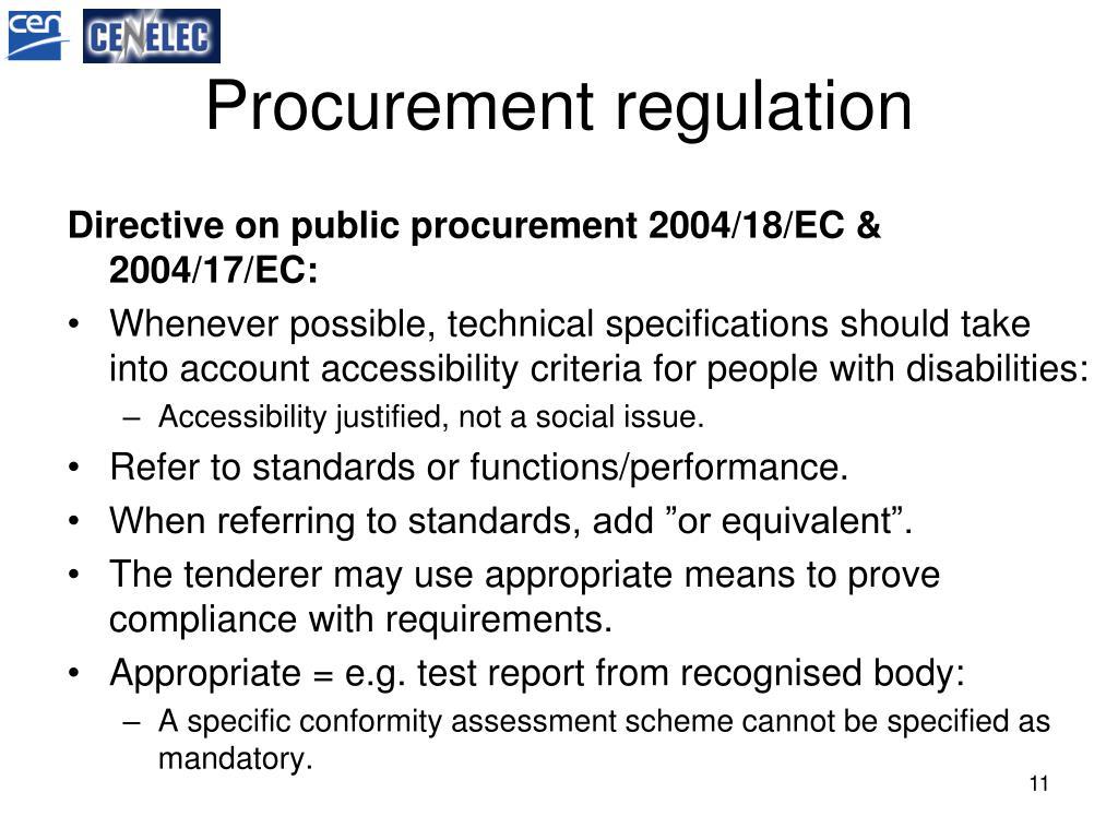 Procurement regulation
