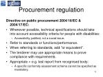 procurement regulation11
