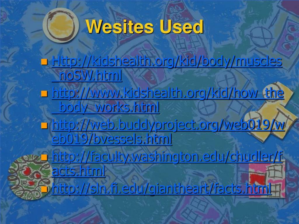 Wesites Used