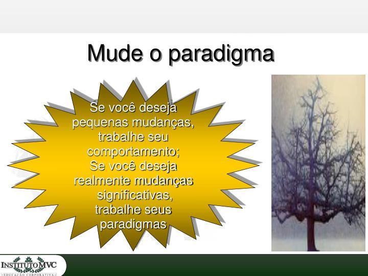 Mude o paradigma