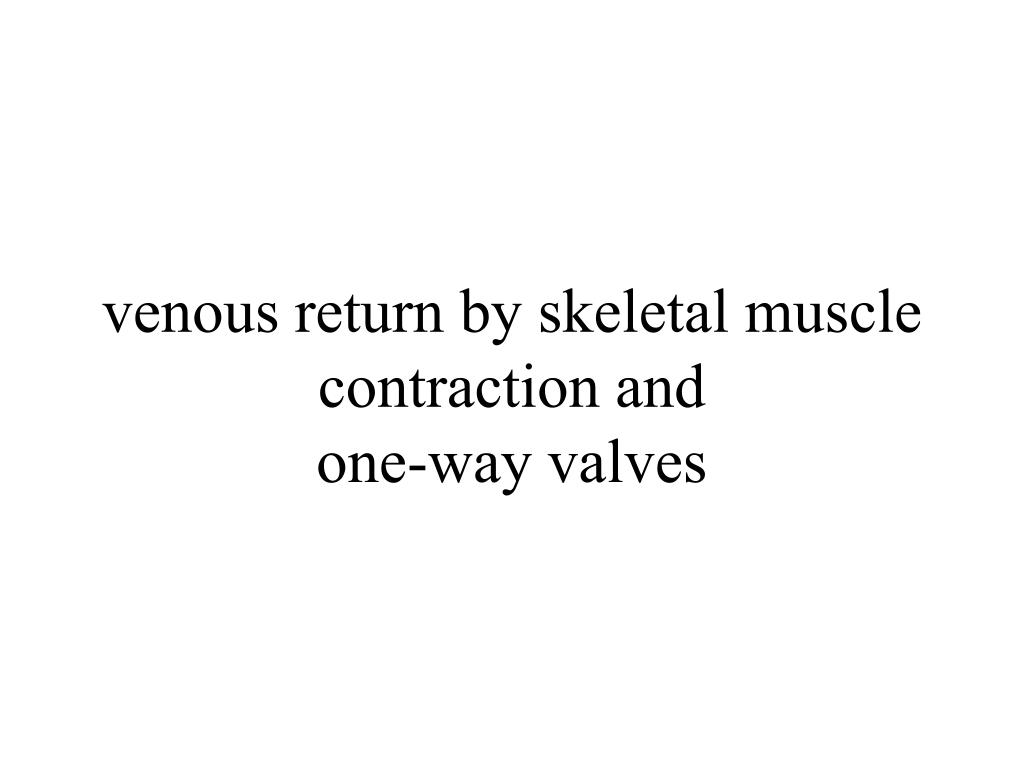 venous return by skeletal muscle contraction and