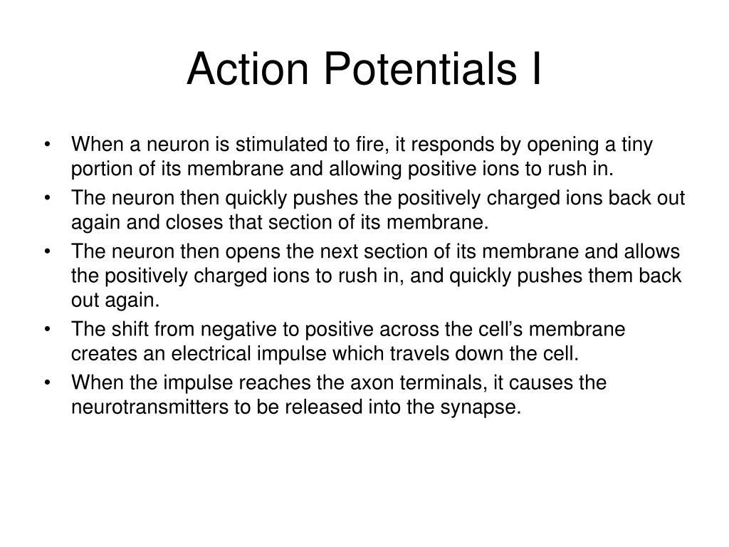 Action Potentials I