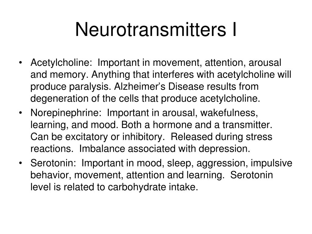 Neurotransmitters I