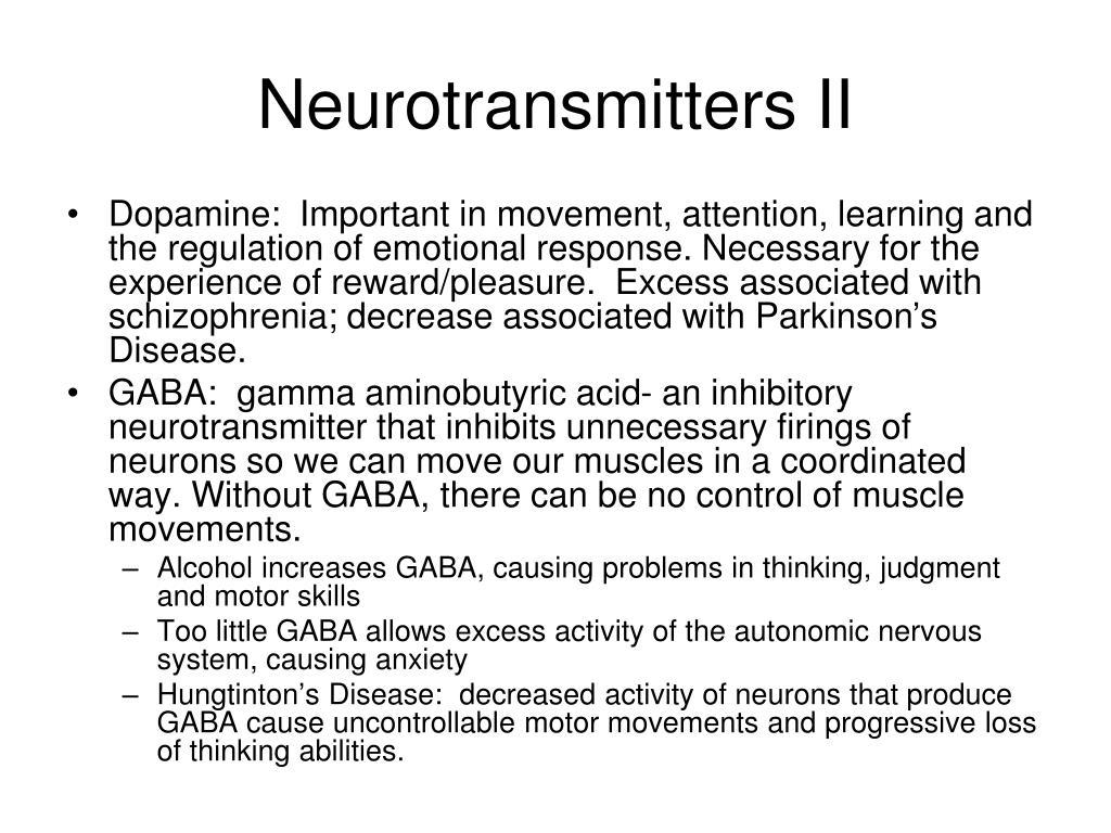 Neurotransmitters II