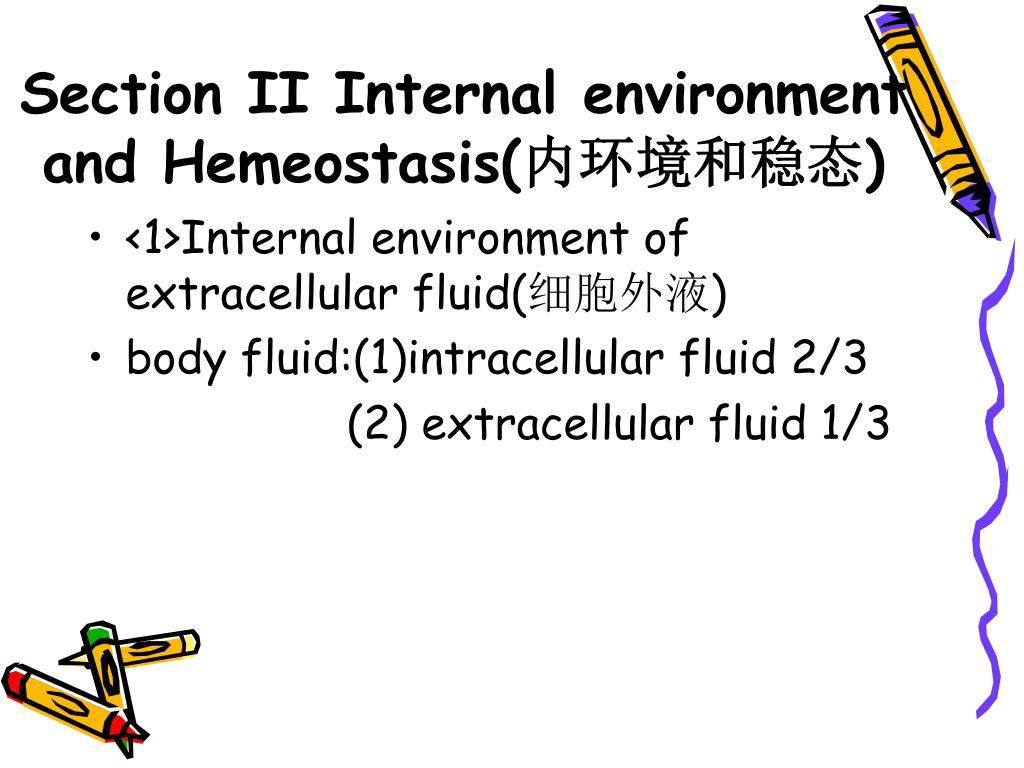 Section II Internal environment and Hemeostasis(