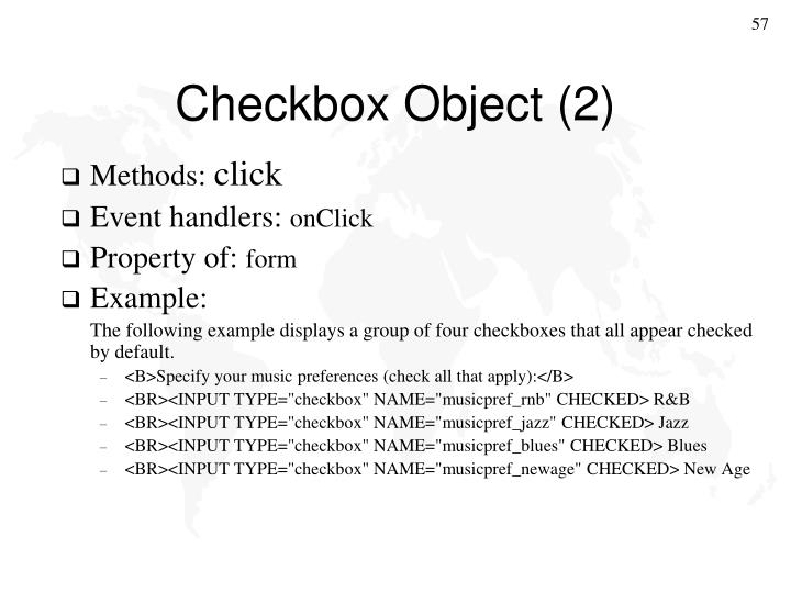 Checkbox Object (2)