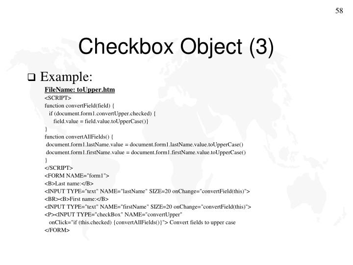 Checkbox Object (3)