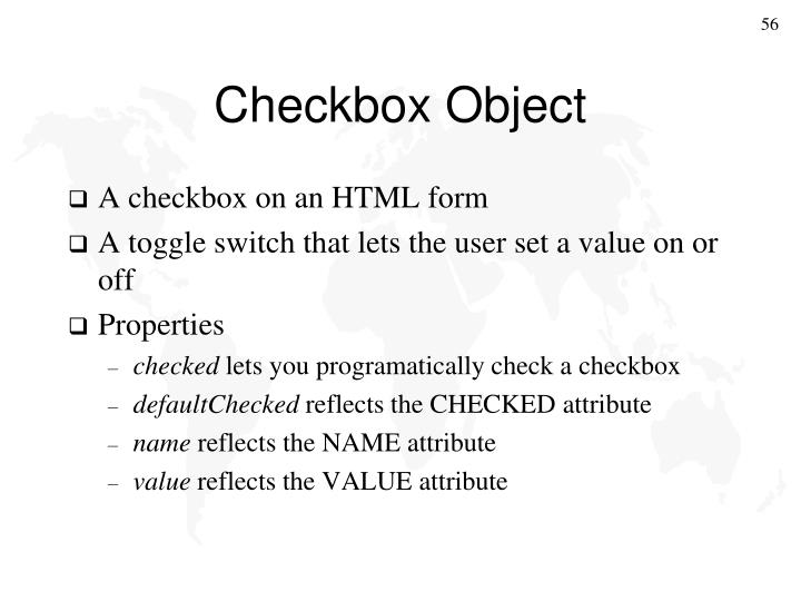 Checkbox Object