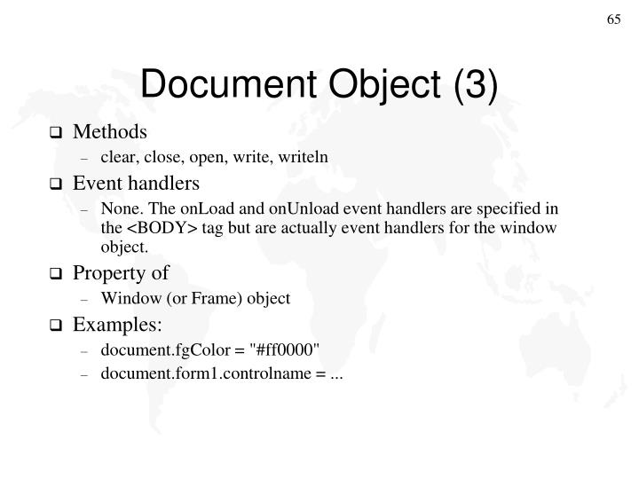 Document Object (3)