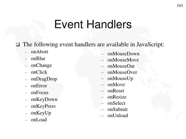 Event Handlers