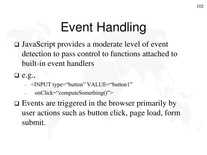 Event Handling