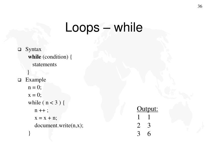 Loops – while