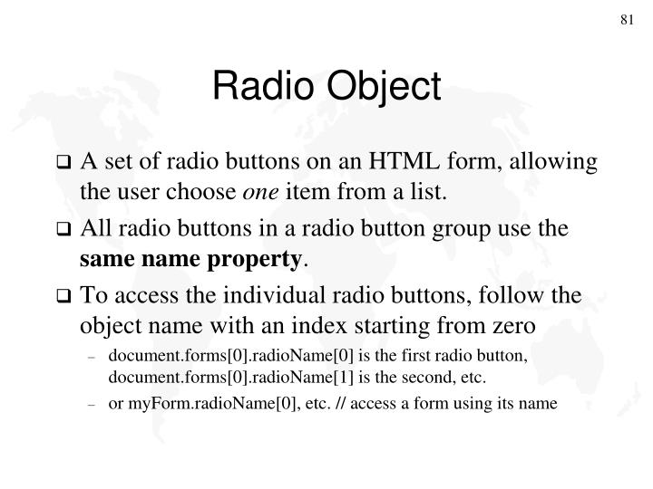 Radio Object