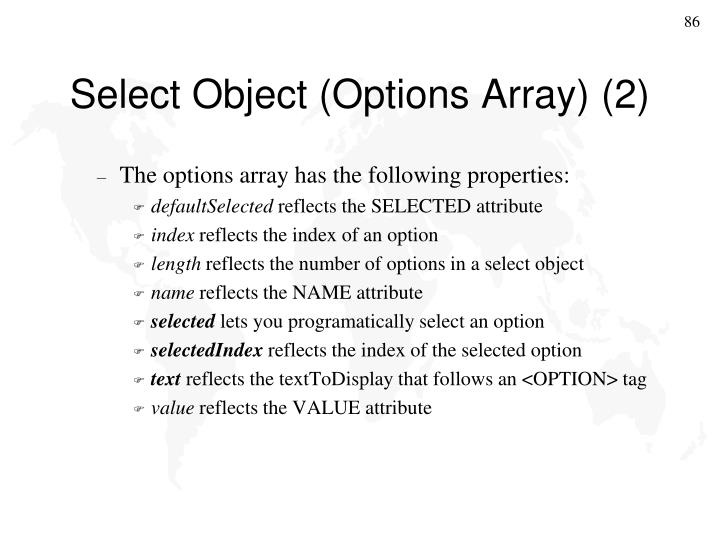 Select Object (Options Array) (2)
