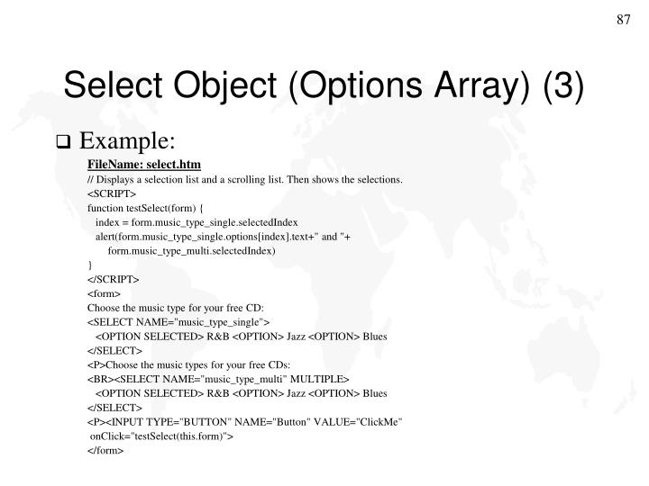 Select Object (Options Array) (3)