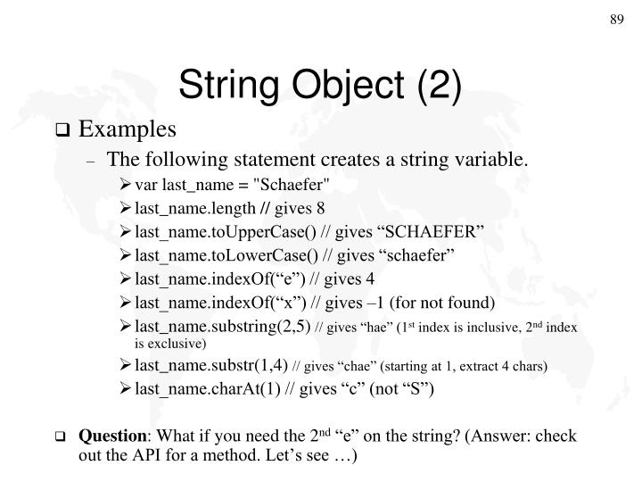 String Object (2)