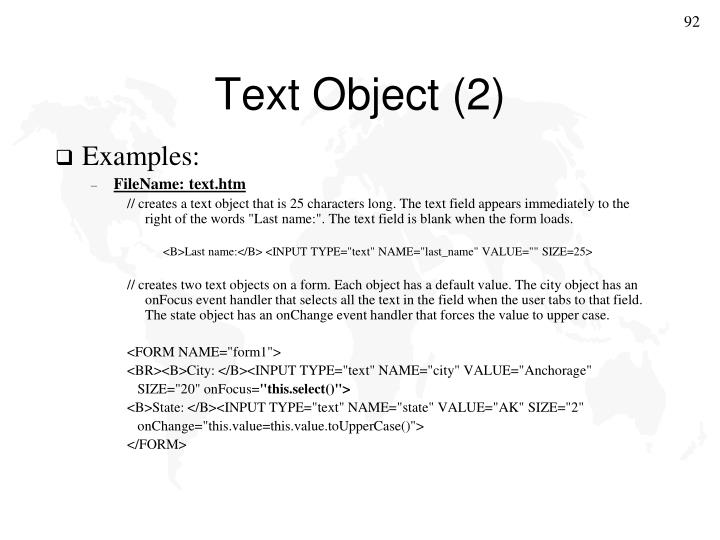 Text Object (2)