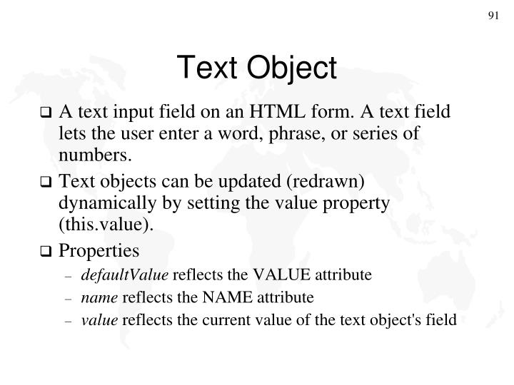 Text Object