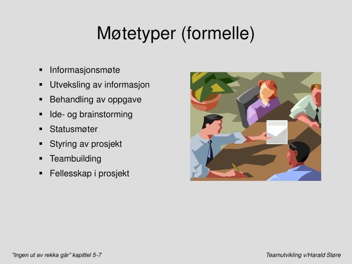 Møtetyper (formelle)