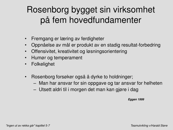 Rosenborg bygget sin virksomhet på fem hovedfundamenter