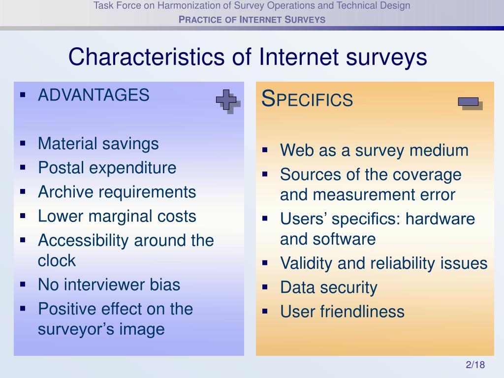 Characteristics of Internet surveys