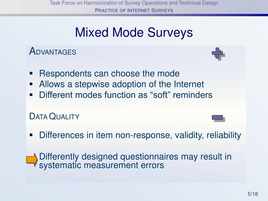 Mixed Mode Surveys