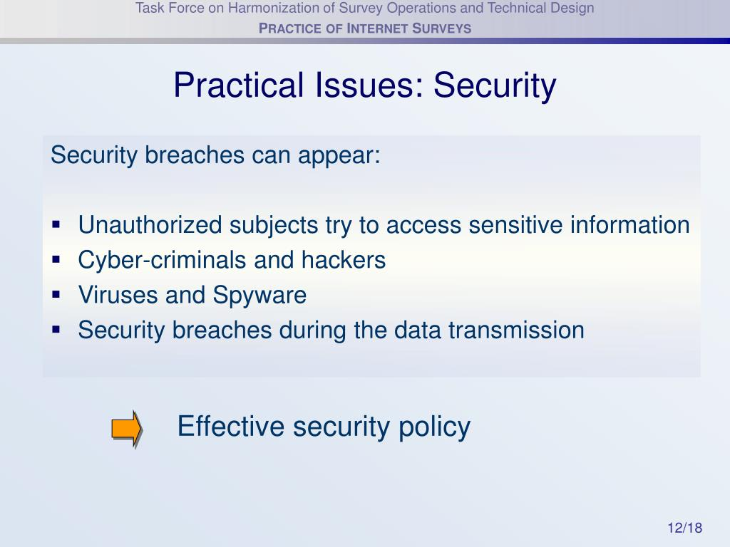 Practical Issues: Security