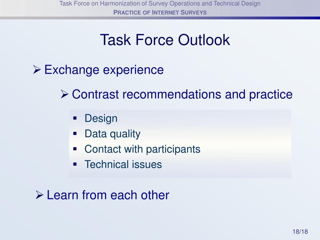 Task Force Outlook