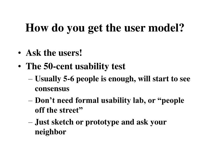 How do you get the user model?
