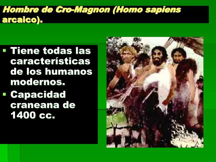 Hombre de Cro-Magnon (Homo sapiens