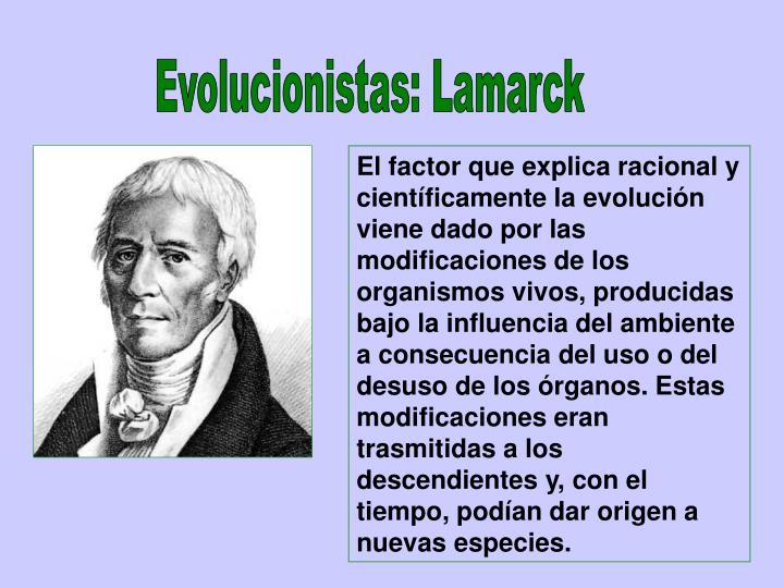 Evolucionistas: Lamarck
