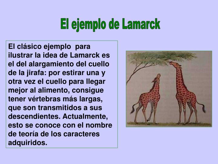 El ejemplo de Lamarck
